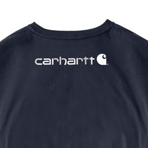 Carhartt® Workwear Long-Sleeve Graphic Logo T-Shirt, Navy, X-Large