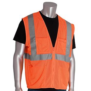Ansi Class 2 Type R Vest Orange Medium