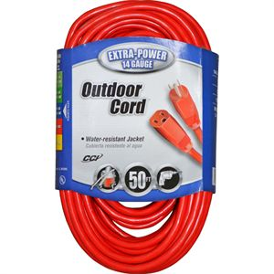 14-3 Outdoor Extension Cord, Orange, 50 Ft.