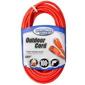 14-3 Outdoor Extension Cord, 100 Ft.