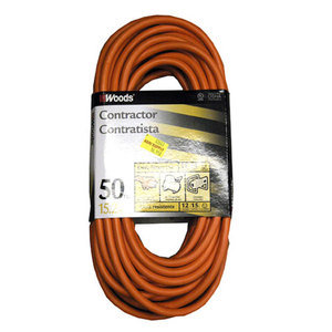 12-3 Outdoor Extension Cord, Orange, 50 Ft.