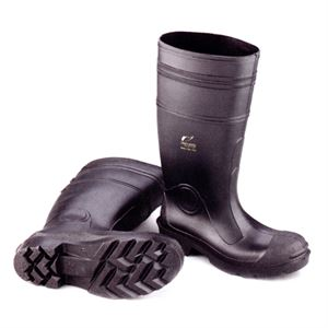 Black Rubber Boot Plain Toe Size