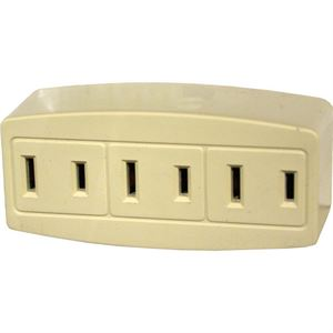 Plug In Outlet Adapter Single To Triple Ivory