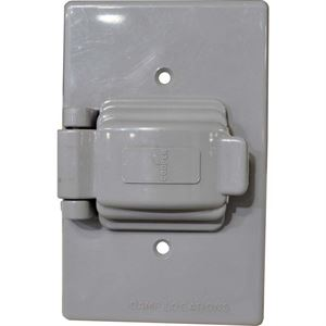 Flush Wallplate Cover Gray Finish