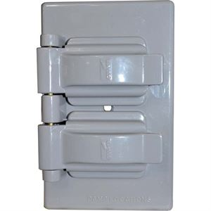 Duplex Wallplate Cover Gray Finish