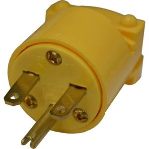 Heavy Duty Armored Vinyl Plug Yellow