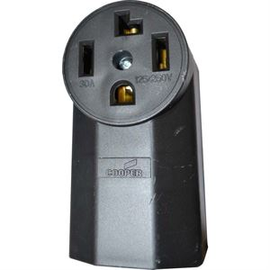 Surface Mount Receptacle Amp Black