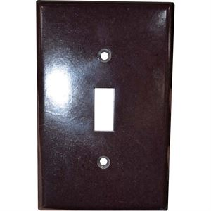 Wallplate Toggle Switch Cover Brown
