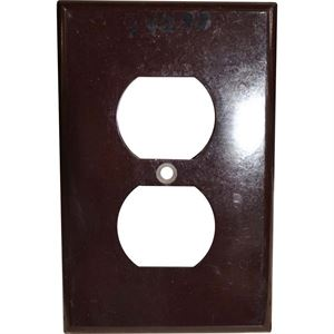 Duplex Receptacle Cover Brown