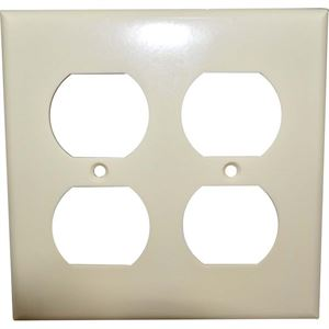 Duplex Receptacle Cover Ivory