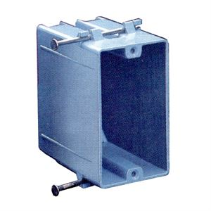Plastic Receptacle Box Single Gang With Angled Nails
