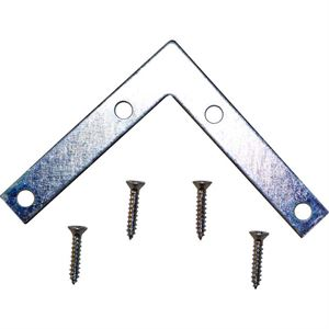 Flat Corner Bracket, 3 In., Iron 4 Pack