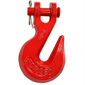 Clevis Grab Hook Heat Treated Ptd Red
