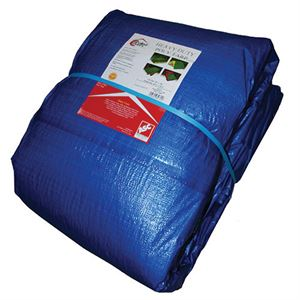 Carolina Covers ® Blue Poly Tarp, 30 Ft. x 50 Ft.