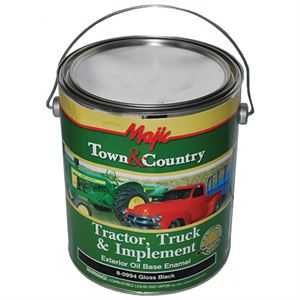 Gloss Black, Tractor Truck And Implement Enamel Paint, 1 Gal.