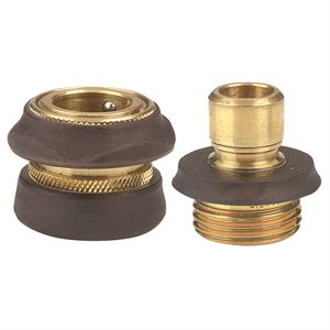 Garden Hose Quick Connector Set Brass