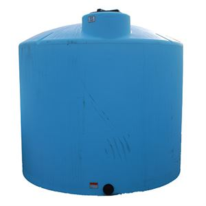 2,500 Gallon Norwesco Blue Vertical Tank