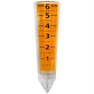 Rain Gauge, Clear Rectangular Reader