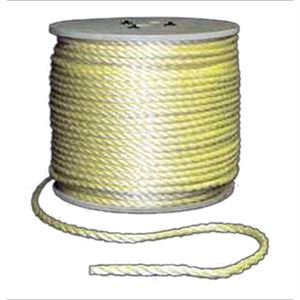 3-Strand Yellow Twisted Poly Rope 1/4 Diameter
