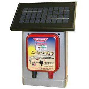 Electric Fence Charger, Solar, 6 Volt