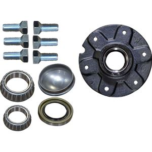 Hub Assembly, 6 Lug Bolts, 6 In. Bolt Pattern