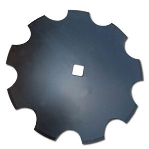 22 Disc Blade, Notched, 6 MM, 1-1/8 Sq. Axle