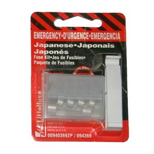 Emergency Auto Fuse Kit, Japanese Cars, 5 Fuses