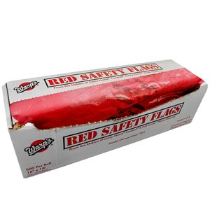 Red Safety Flags 500 Per Roll