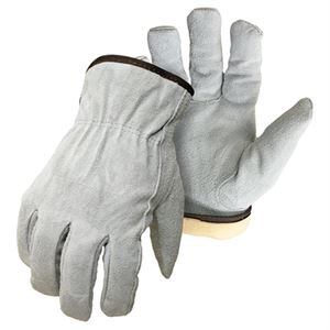 Large Split Leather Gloves With Thinsulate