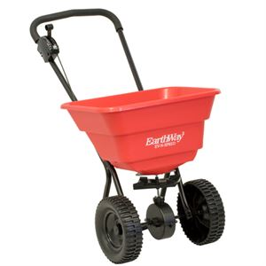 EarthWay Deluxe Push Broadcast Spreader, 80Lb. Capacity