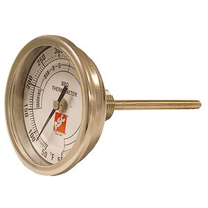 Thermometer For Pig Cooker, BBQ, Grill, 3 in Dial