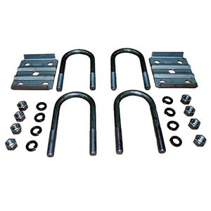 U-Bolt Kit for 2-3/8 inch Round Trailer Axle, 3,500 Lb