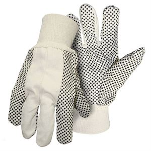 Cotton Canvas Gloves With Plastic Dots