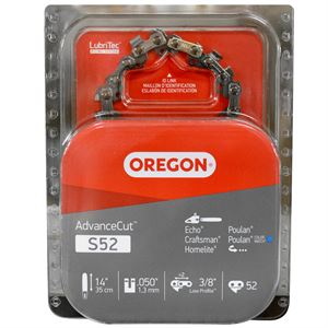 Chainsaw Chain, 14 In. Single Pack, S52