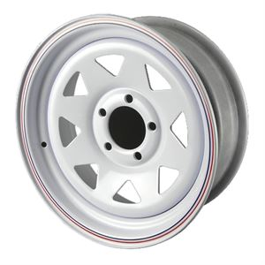 Trailer Wheel, 8 Spoke, 15 X 6, 5 On 4.5 In. Bolt Pattern