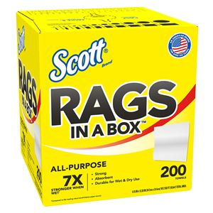SCOTT Rags, 200 Count Box