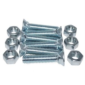 Plow Nuts and Bolts, 7/16 x 2 In., 6 Per Bag