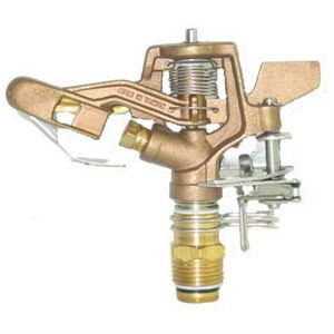 Brass Impulse Sprinkler Head, 1/2 In.