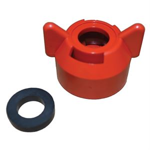 Quick Attach Cap & Gasket Set Red For Tk Tx & Tg Spray Tips
