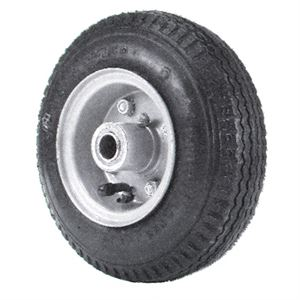 Lawn Mower Tire and Hub Assembly, 4.10 x 5.0 x 4