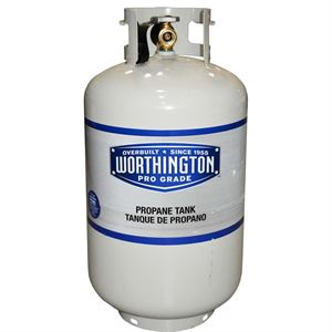 Worthington Propane Gas Cylinder, 30 lbs.