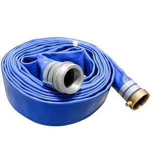 25 Ft. PVC Discharge Hose Assembly With Alum Coupled Fittings