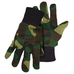 Green Camouflage Gloves