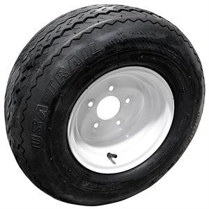 Trailer Tire And Wheel, 20.5X8.0X10, 5 On 4-1/2 In. Pattern