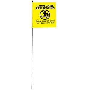 Lawn Care Application Flag Stake