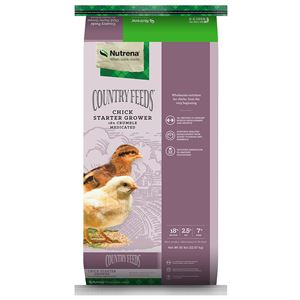 Nutrena Chick Starter Grower Feed, Medicated, 50 Lbs