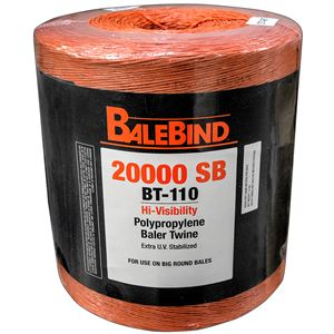 Poly Baler Twine, 20,000 Ft, 110 Lb Tensile Strength