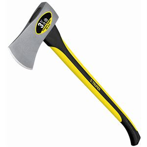 Truper Single Bit Axe, 3-1/2 Lbs., Fiberglass Handle