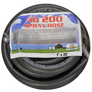 Pre-Cut Sprayer Hose, 1 in x 25 ft, Black