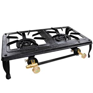 Carolina Cooker Double Burner, Cast Iron Stove